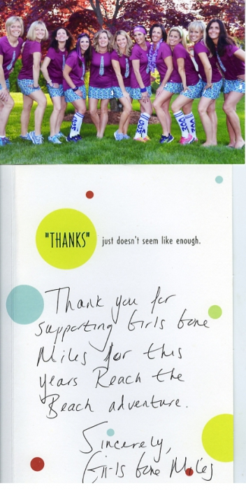 Thanks for Supporting Girls Gone Miles!